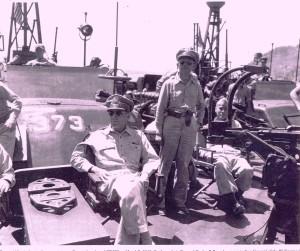 MacArthur on 373 with Sergio Osmena