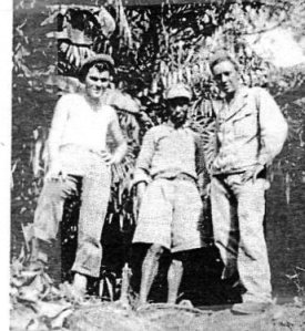 Frank (left) with Chinese soldier & US Army buddy