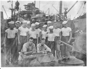 PT 589 crew in '45.  Red stands, 5th from left