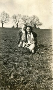 Mother and son in 1927