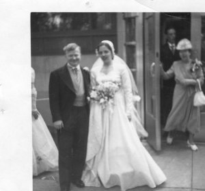 Red & Rita on their wedding day in 1950