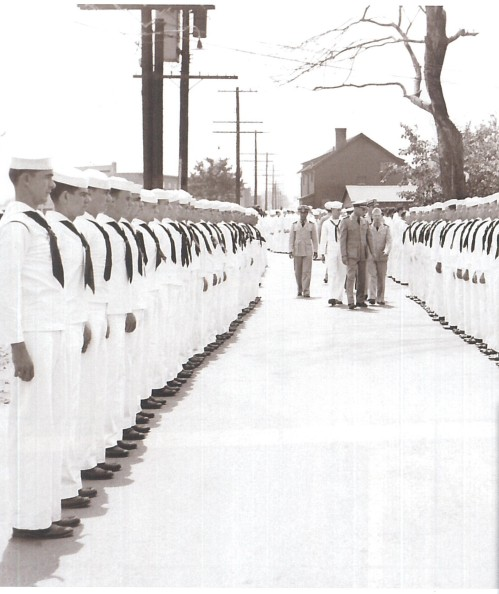 Enlisted sailors undergo inspection at Melville