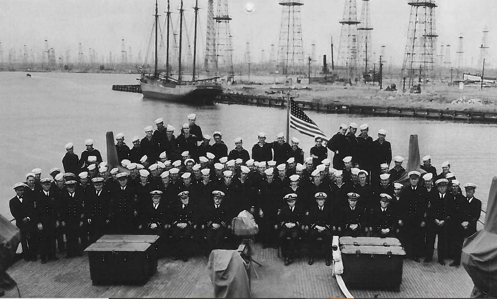 Commissioning of USS HILO AGP 2 on June 1, 1942. 90% were PH survivors