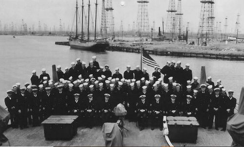 Commissioning of USS HILO AGP 2 on June 1, 1942. 90% were PH survivors